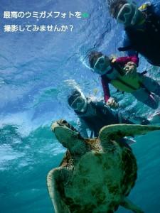 宮古島で最高のお写真をシュノーケリングにて