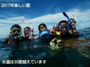 シュノーケリングでウミガメの息継ぎを宮古島で