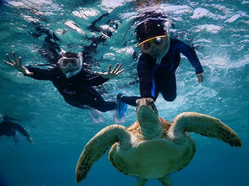 宮古島のシュノーケル写真は海へ